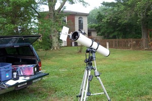 Setting up to see transit of Venus across the Sun