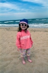 A granddaughter at the beach